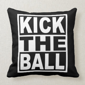 Kick the Ball Throw Pillow