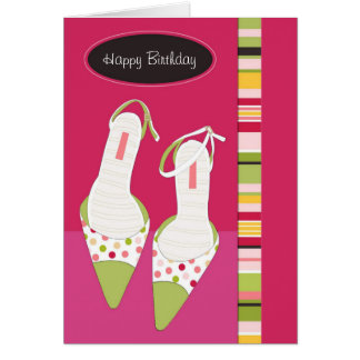 Kick Up Your Heels Birthday Card