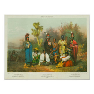 Kickapoo Indian Group, Casimiro Castro, 1864 Poster