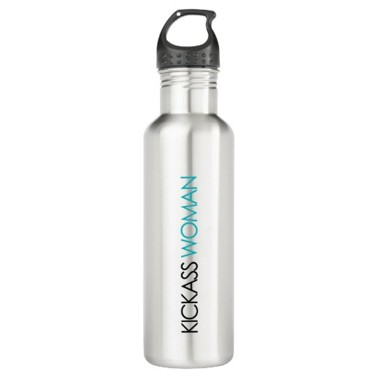 Kickass Woman Water Bottle Metal + Teal
