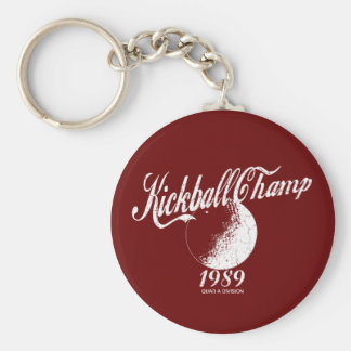 Kickball Champ Basic Round Button Keychain