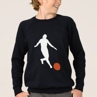 Kickball Player Silhouette Sweatshirt