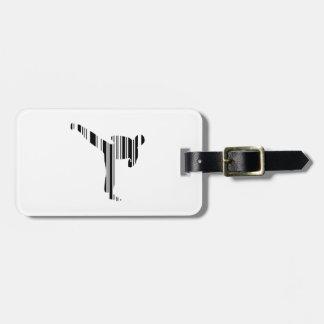 KICKBOXER BAR CODE Kickboxing Barcode Pattern Luggage Tag