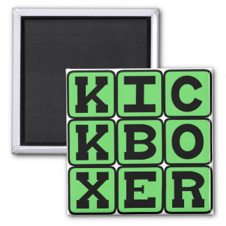 Kickboxer, Martial Arts Fighter Square Magnet