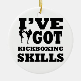 Kickboxing designs ceramic ornament