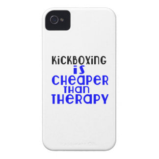 kickboxing Is Cheaper  Than Therapy iPhone 4 Case-Mate Cases