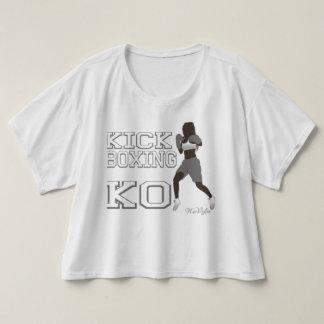 Kickboxing Knockout Boxy Crop Tee (Grey)