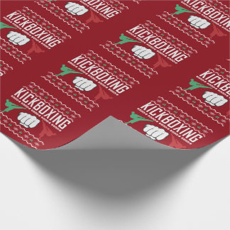 Kickboxing Ugly Christmas Sweater Wrapping Paper