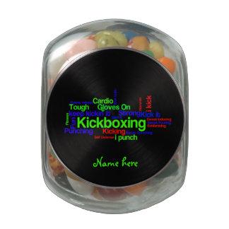 Kickboxing Word Cloud Bright on Black