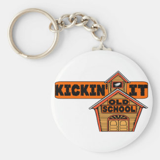 Kickin' It Old School Key Chain