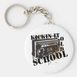 Kickin It Old School Keychain