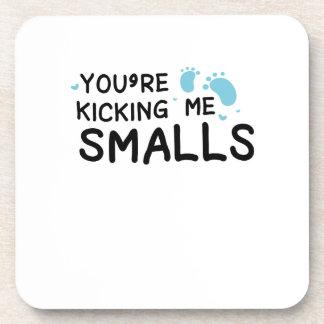 Kicking Me Smalls pregnancy Maternity Funny Mom Coaster