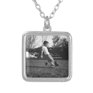 Kickoff! Silver Plated Necklace