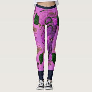 Kicky Fun Fashion Leggings-Pink/Purple/Green/Navy Leggings