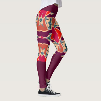 Kicky Fun Fashion Leggings -Red/Blue/White/Purple