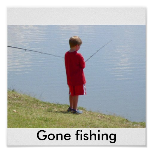 Kid 014, Gone fishing Poster