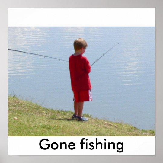 Kid 014, Gone fishing Poster