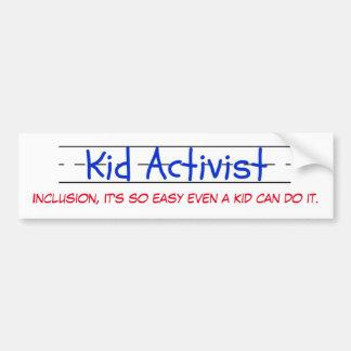 Kid Activist bumper sticker