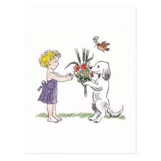 Kid and pet card