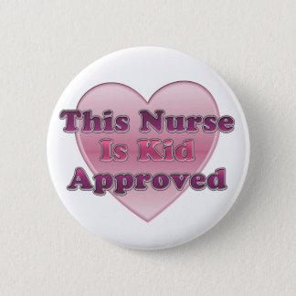 Kid Approved Nurse 2 Inch Round Button