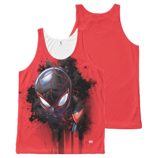Kid Arachnid Ink Splatter All-Over-Print Tank Top
