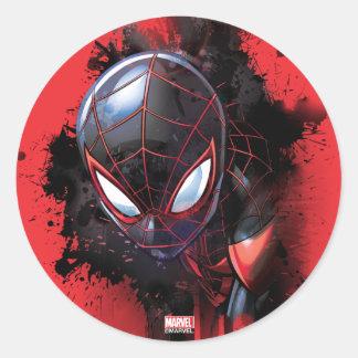 Kid Arachnid Ink Splatter Classic Round Sticker