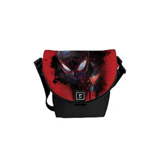 Kid Arachnid Ink Splatter Messenger Bag