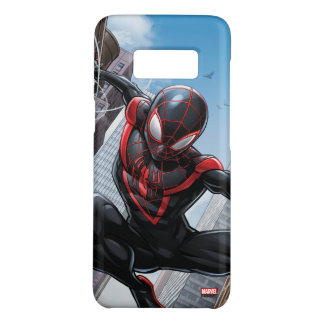 Kid Arachnid Web Slinging Through City Case-Mate Samsung Galaxy S8 Case