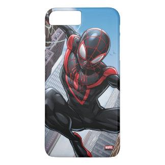 Kid Arachnid Web Slinging Through City iPhone 8 Plus/7 Plus Case