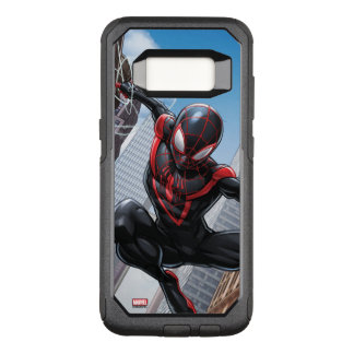 Kid Arachnid Web Slinging Through City OtterBox Commuter Samsung Galaxy S8 Case