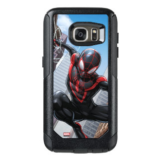 Kid Arachnid Web Slinging Through City OtterBox Samsung Galaxy S7 Case