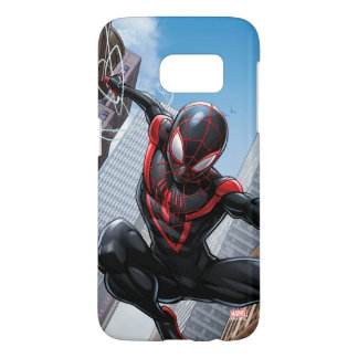 Kid Arachnid Web Slinging Through City Samsung Galaxy S7 Case
