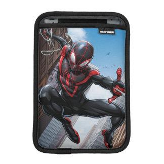 Kid Arachnid Web Slinging Through City Sleeve For iPad Mini