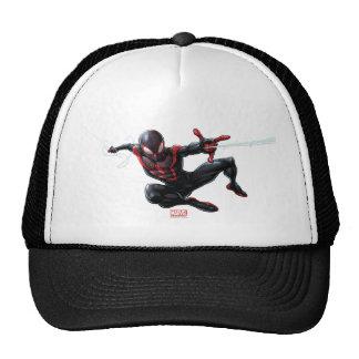 Kid Arachnid Web Slinging Through City Trucker Hat