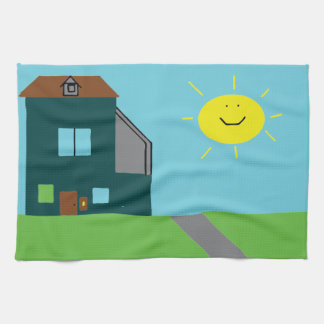 Kid Art - House Sky & Sunshine Kitchen Towel