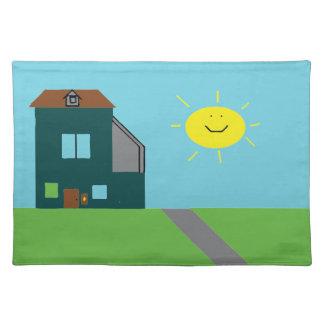 Kid Art - House Sky & Sunshine Placemat