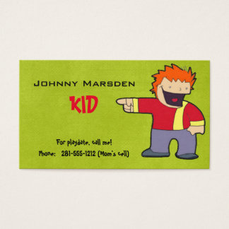 Kid Business Card For Playdate