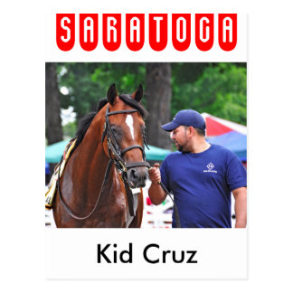 Kid Cruz at Saratoga Postcard
