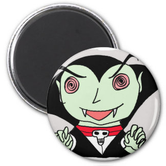 kid dracula 2 inch round magnet