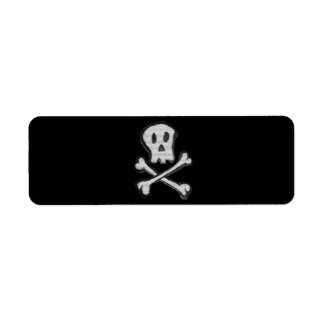 Kid Drawn Mosaic Style Jolly Roger Return Address Label