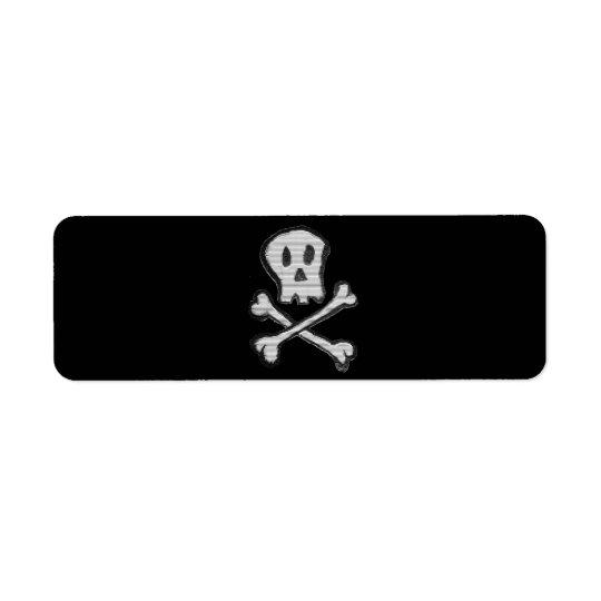 Kid Drawn Mosaic Style Jolly Roger Return Address Label
