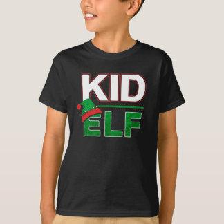 Kid Elf   Christmas Holiday Elf Family Funny   T-Shirt