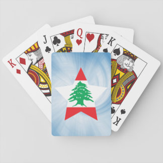 Kid Friendly Lebanon Flag Star Playing Cards