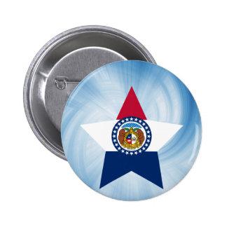 Kid Friendly Missouri Flag Star 2 Inch Round Button