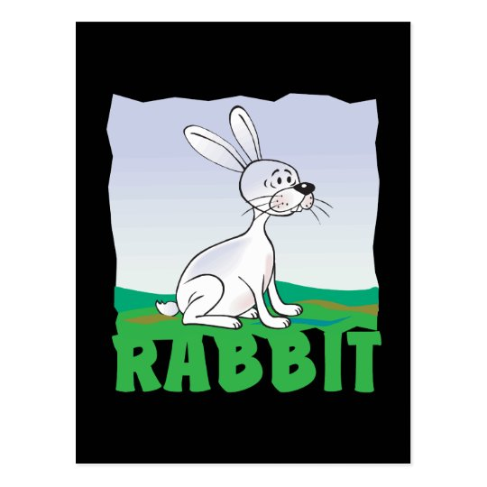 Kid Friendly Rabbit Postcard