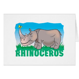 Kid Friendly Rhinoceros Card