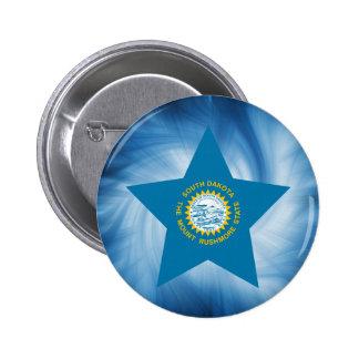 Kid Friendly South Dakota Flag Star 2 Inch Round Button