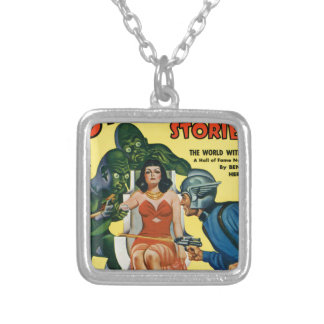 Kid from Mars Silver Plated Necklace