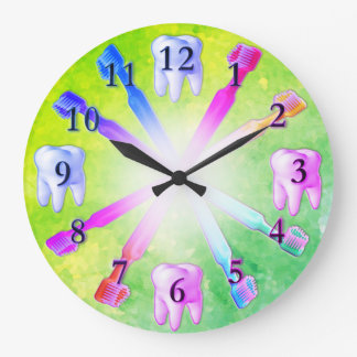 Kid Fun Colorful Toothbrush Clock