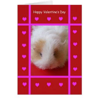 Kid Guinea Pig Valentine Card